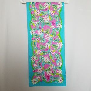 Lilly Pulitzer daisy paisly print silk scarf